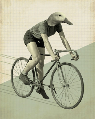 Duck Riding a Bicycle